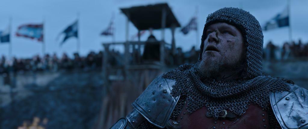 'Ostatni pojedynek', film Ridleya Scotta w kimach od 15.10.2021. Na zdjęciu Matt Damon jako Jean de Carrouges