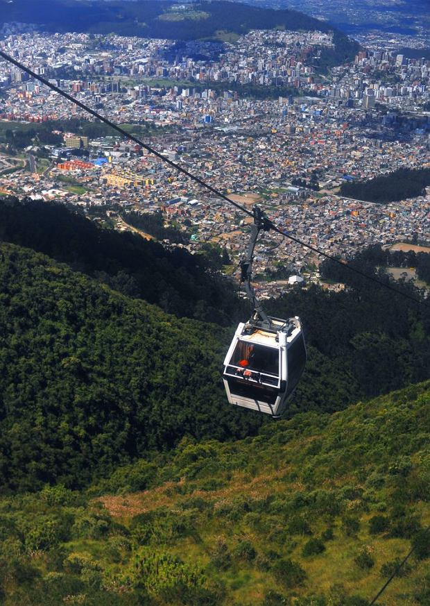 Kolejka linowa na wulkan Pichincha, Quito (Ekwador) / fot. Shutterstock