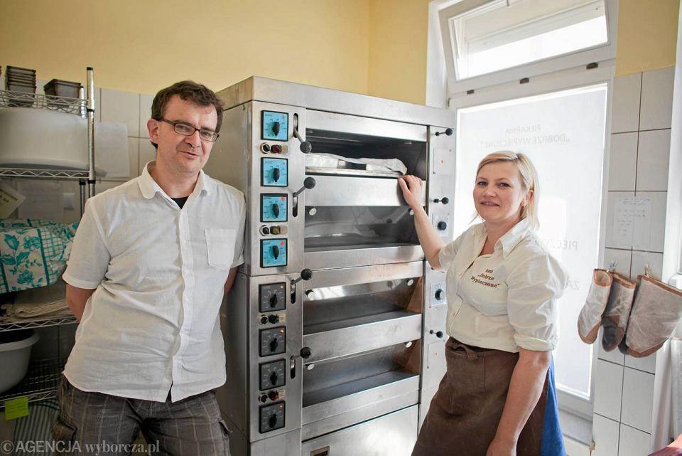 Właściciele piekarni 'Dobrze Wypieczone' Katarzyna i Rafał