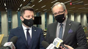 Michał Dworczyk, szef KPRM i Adam Niedzielski, minister zdrowia o narodowym programie szczepień przeciw covid-19