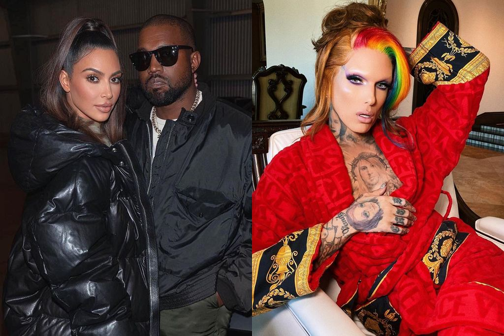 Kim Kardashian, Kanye West, Jeffree Star