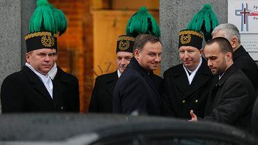 Prezydent Andrzej Duda podczas wizyty w Katowicach w 2015 roku