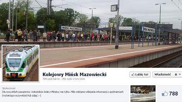 Profil Kolejowy Mińsk Mazowiecki na Facebooku
