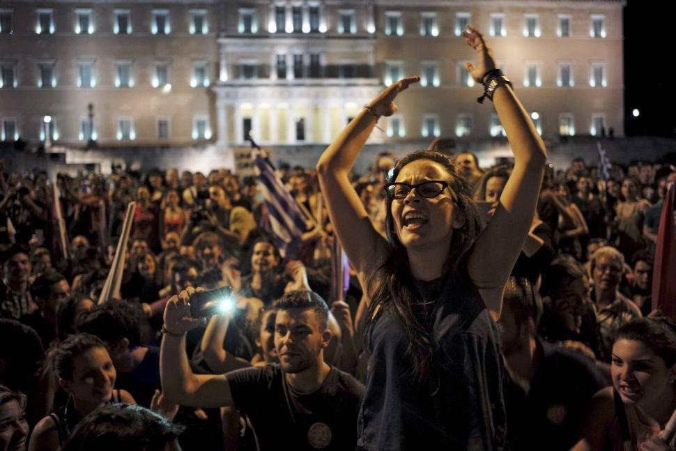 Demonstracja popierających