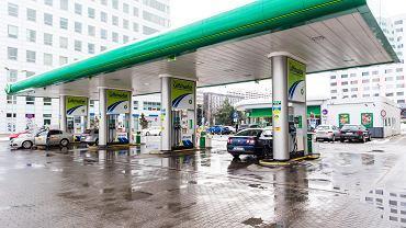 Stacja benzynowa we Wrocławiu.
