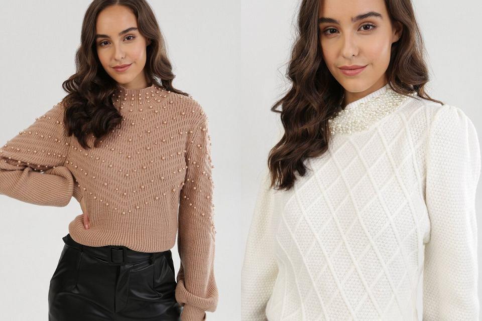 Swetry z perełkami