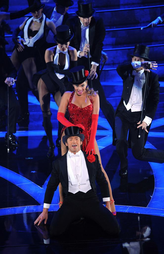 Taniec Hugh Jackmana i Beyonce