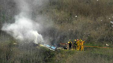 Szczątki helikoptera, którym lecieli Kobe Bryanta, jego córka Gianna i siedem innych osób, okolice Los Angeles 26.01.2020
