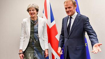 Theresa May i Donald Tusk, Bruksela, 20 października 2017