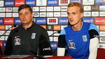 Konferencja prasowa przed meczem FK Sarajevo  - Lech Poznań. Trener Maciej Skorża i Jasmin Burić