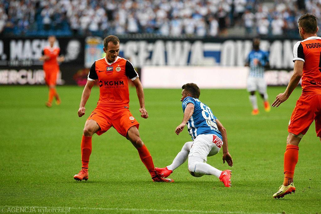 Lech Poznań - Zagłębie Lubin 0:2. Radosław Majewski i Adrian Rakowski