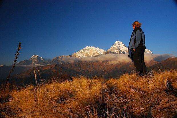 Chwila odpoczynku podczas trekkingu wokół Annapurny / fot. Vera & Jean-Christophe/CC/Flickr.com