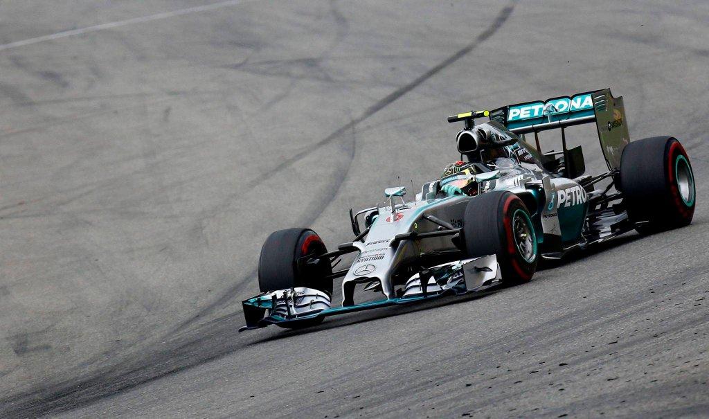 Nico Rosberg na torze w Hockenheim