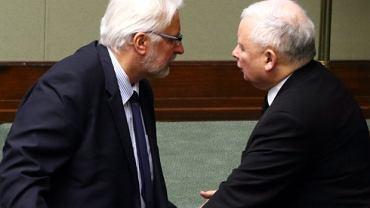 Witold Waszczykowski i Jarosław Kaczyński w Sejmie