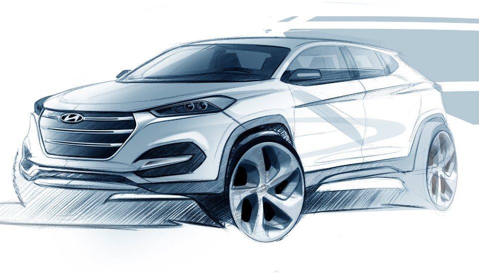Nowy Hyundai Tucson - pierwszy szkic