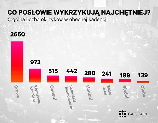 Burzliwe obrady Sejmu. 308 okrzyków posłów dziennie
