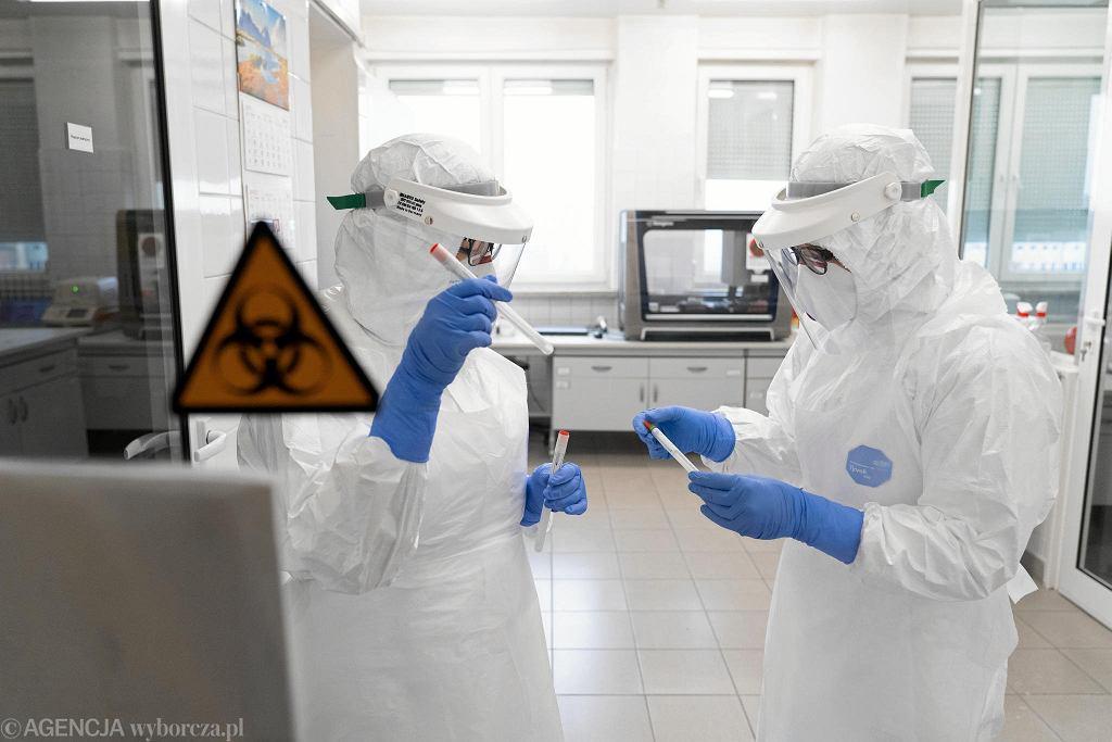 Diagności z laboratorium wykonującego w Olsztynie testy na obecność koronawirusa