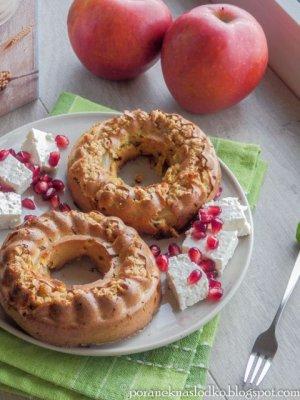 Owsiane babeczki z jabłkami