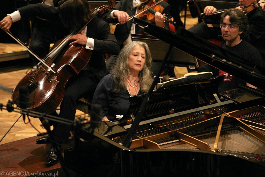 Martha Argerich w Warszawie w 2009 roku