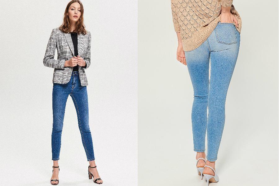 niebieskie jeansy push up