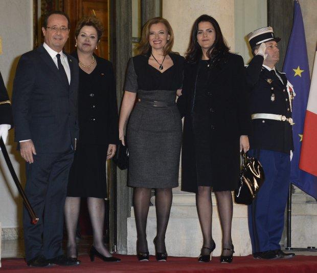 Francois Hollande, Dilma Rousseff,  Valerie Trierweiler , Paula Rousseff de Araujo