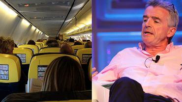 Szef Ryanair o utrzymaniu dystansu społecznego na pokładzie samolotu