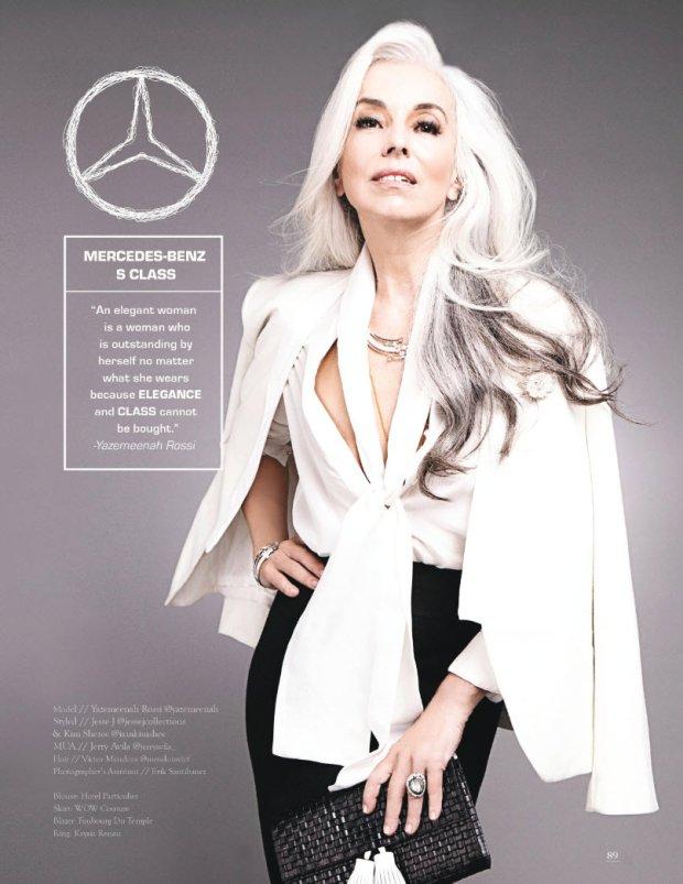 Mercedes klasy S i Yazemeenah Rossi