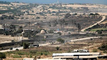 Rejon przygraniczny między Egiptem i Strefą Gazy na półwyspie Synaj