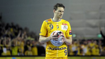 Tobias Reichmann podczas meczu Vive Tauron Kielce - Rhein-Neckar Lowen