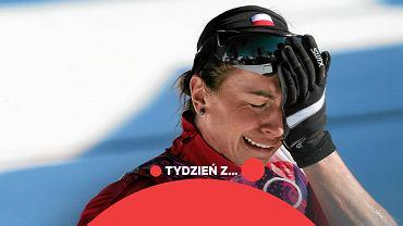 Justyna Kowalczyk na mecie podczas biegu na 10 km stylem klasycznym na igrzyskach olimpijskich