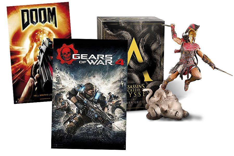 Figurki i plakaty z gier