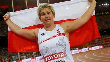 Anita Włodarczyk zdobyła złoty medal w rzucie młotem na lekkoatletycznych MŚ w Pekinie! Nie powinna być zaskoczona, ale tu na taką wygląda!