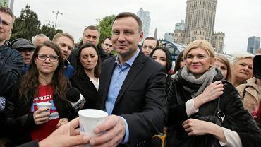 Kandydat na prezydenta Andrzej Duda w Warszawie