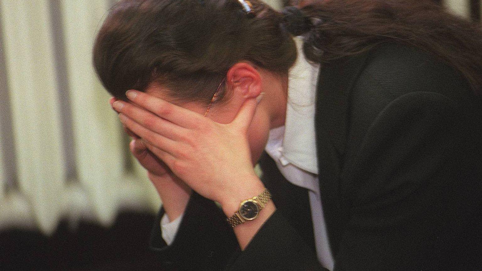 Marzec 1998 r. Proces o zabójstwo Joli Brzozowskiej. Na zdjęciu Monika O. 'Osa'