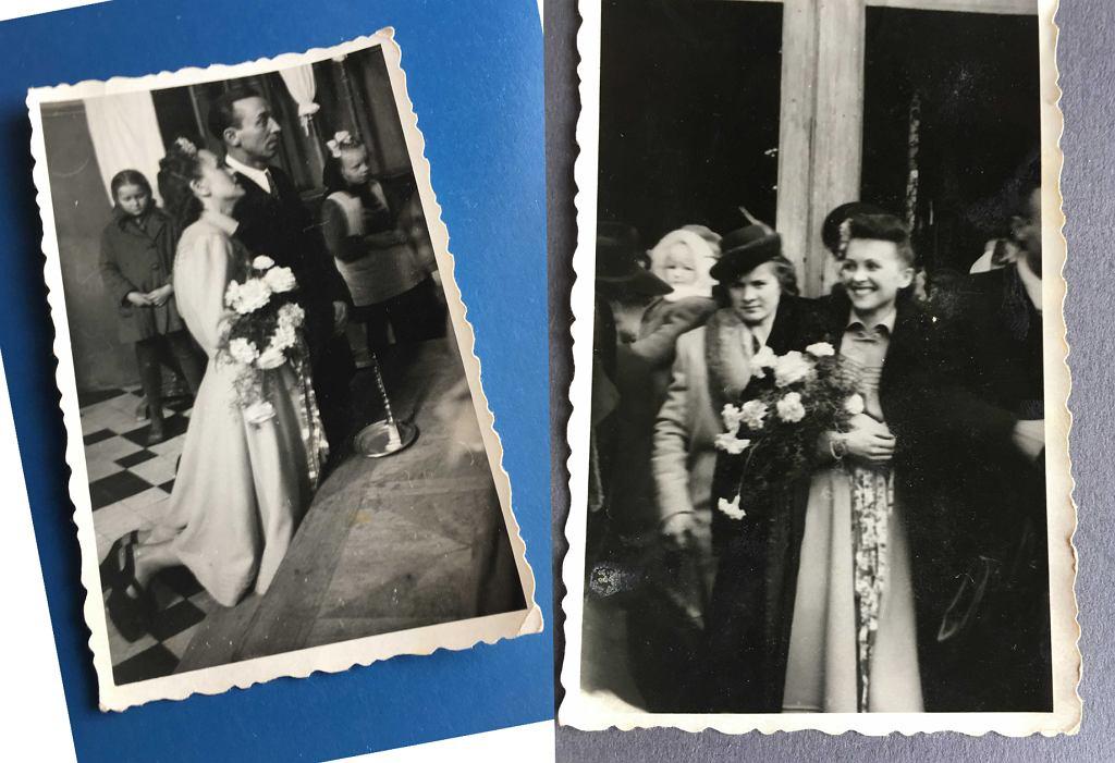 Dziadkowie Kasi Żechowicz (Avanti24.pl) na ślubnym kobiercu tuż po wojnie