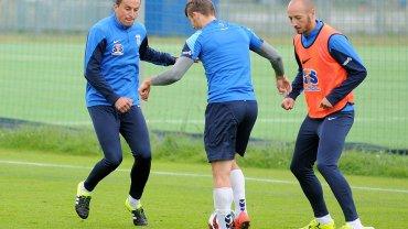 Lech Poznań trenuje przed meczem z Podbeskidziem Bielsko-Biała. Dariusz Dudka i Łukasz Trałka