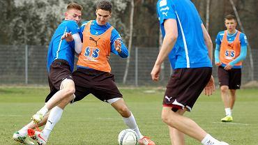 Trening Lecha Poznań. Marcin Kamiński i Szymon Zgarda