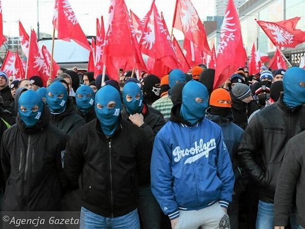 11.11.2013 r. Uczestnicy Marszu Niepodległości