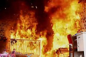 Strażacy ostrzegają: 7 minut, tyle wystarczy, aby doszczętnie spłonął pokój twojego dziecka [WIDEO]