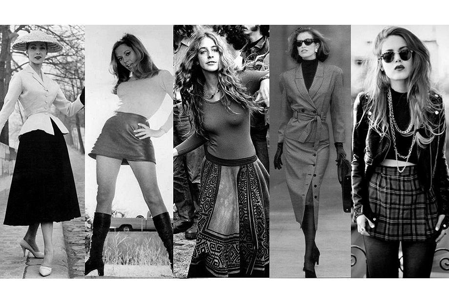 Historia spódnicy - od rozkloszowanej Christiana Diora w latach 50. do krótkiej i kraciastej w latach 90.
