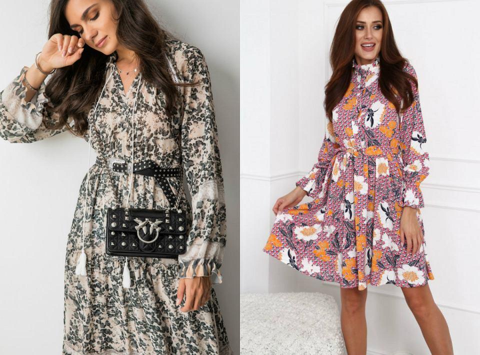 Kwieciste sukienki na jesień