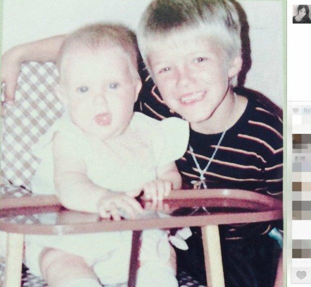 Joanne i David Beckham w dzieciństwie