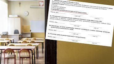 Oświadczenie w jednej ze szkół
