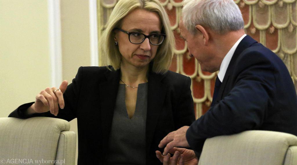 Minister finansów Teresa Czerwińska i minister energii Krzysztof Tchórzewski