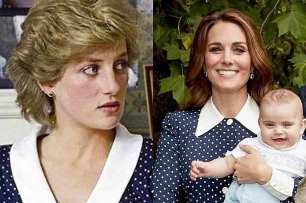 Księżna Kate i księżna Diana