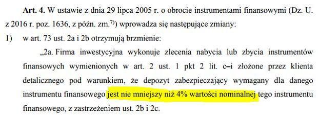 fragment ustawy o zmianie ustawy o nadzorze nad rynkiem finansowym oraz niektórych innych ustaw