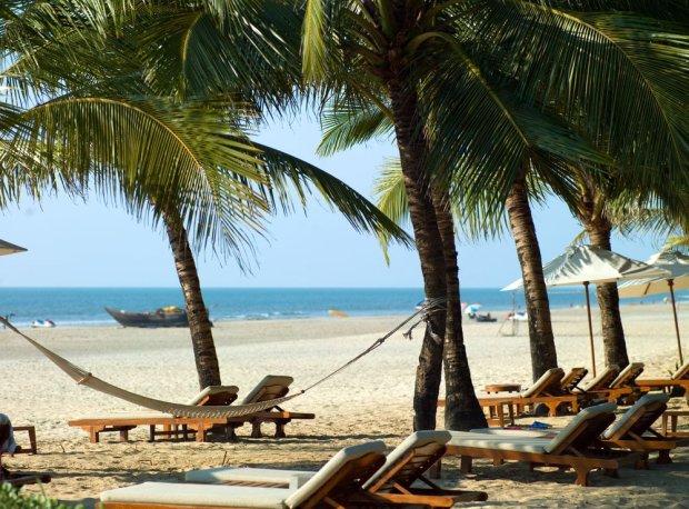 Plaża na Goa. Indie