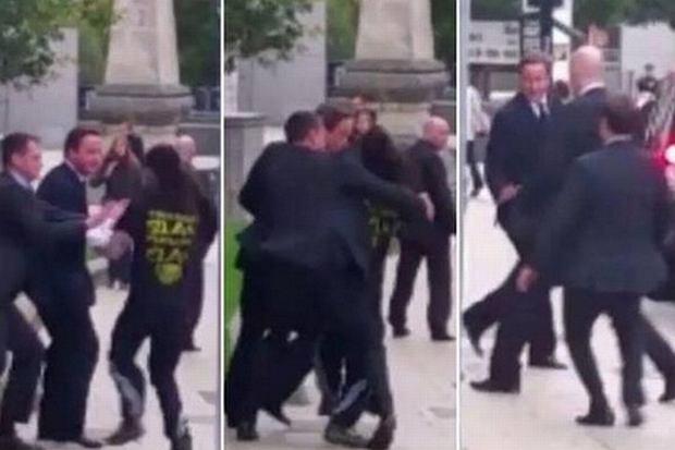 Incydent podczas wizyty Davida Camerona w Leeds
