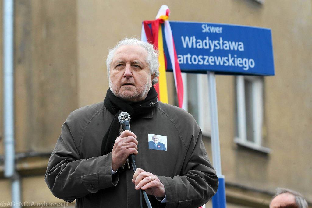 Otwarcie skweru im Władysława Bartoszewskiego w Warszawie