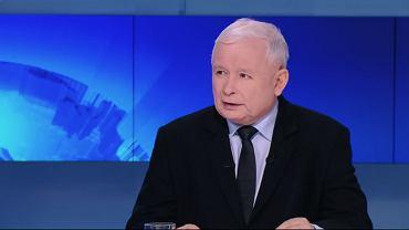 Prezes PiS Jarosław Kaczyński podczas wywiadu na antenie Polsat News, 7.10.2019